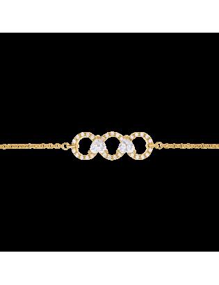 Bracelet Flirt, Plaqué Or