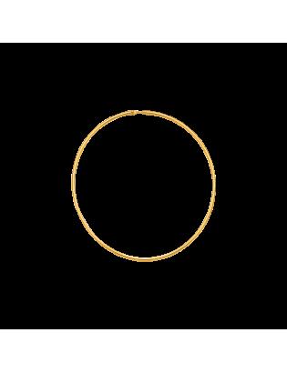 Créoles Echo, plaqué or