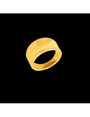 Bague Courbe, Plaqué or