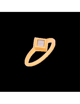 Bague Marqueterie, Plaqué or
