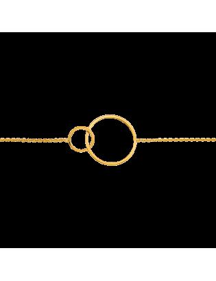 Bracelet Helios, plaqué or