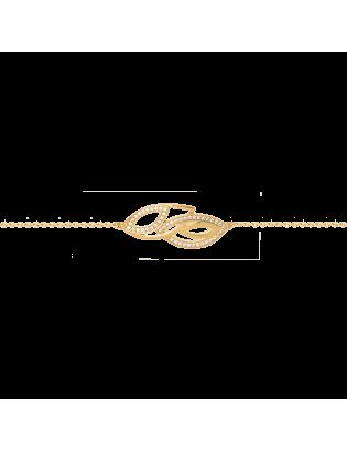 Bracelet Eden, plaqué or