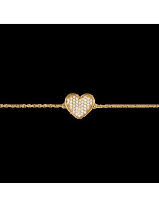 Bracelet Coeur, plaqué or