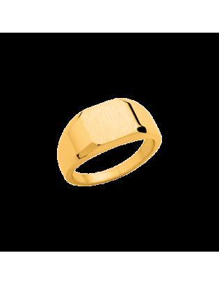 Chevalière Valamas, plaqué or