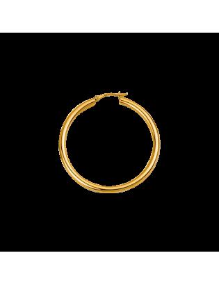 Créoles Halo, plaqué or