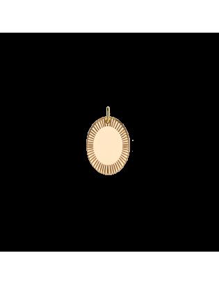 Pendentif Aurore, Plaqué or