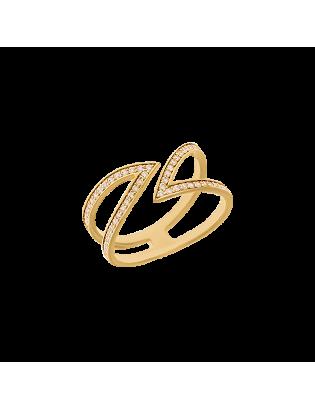 Bague Eden, plaqué or